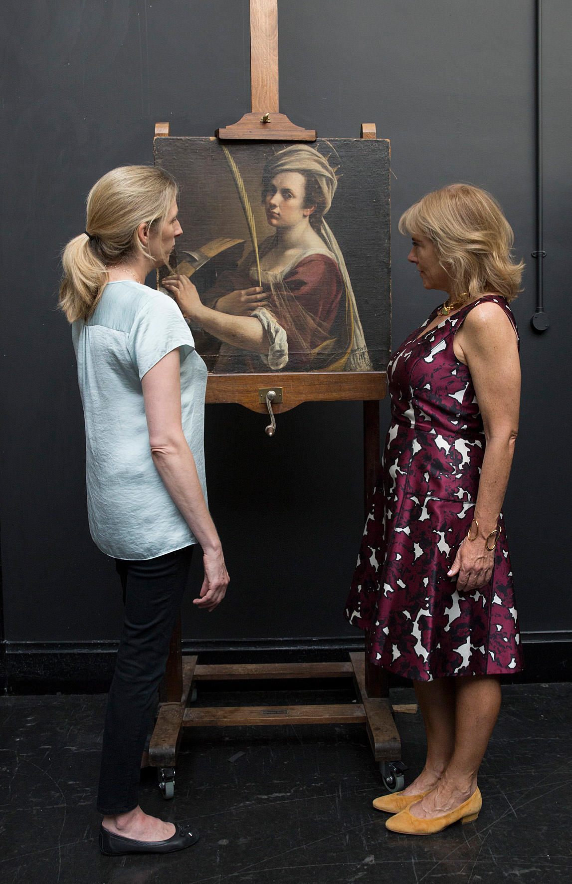 Letizia Treves and Hannah Rothschild with Artemisia